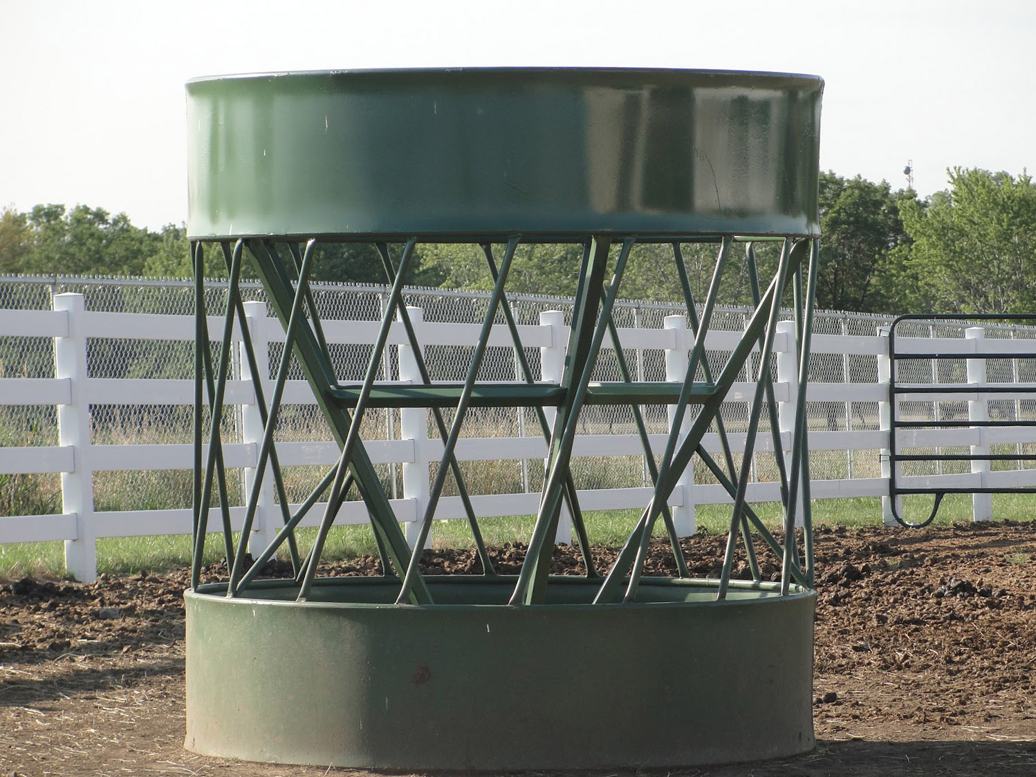 Feeding horses with a round-bale feeder | UMN Extension