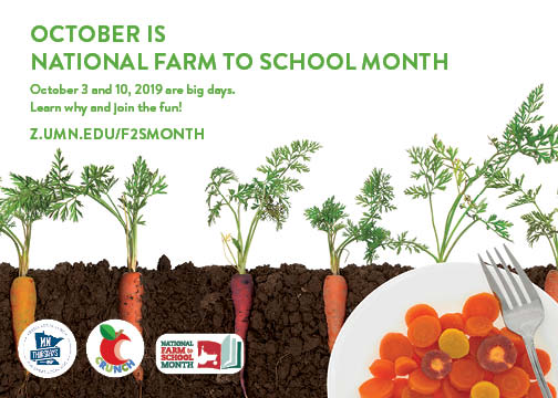 Farm to school month save the date 2019
