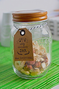 Homemade - dried fruit in jar.