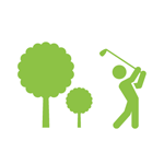 Icon of person golfing