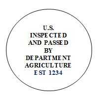 Label - U.S. Inspected and passed by Department of Agriculture.
