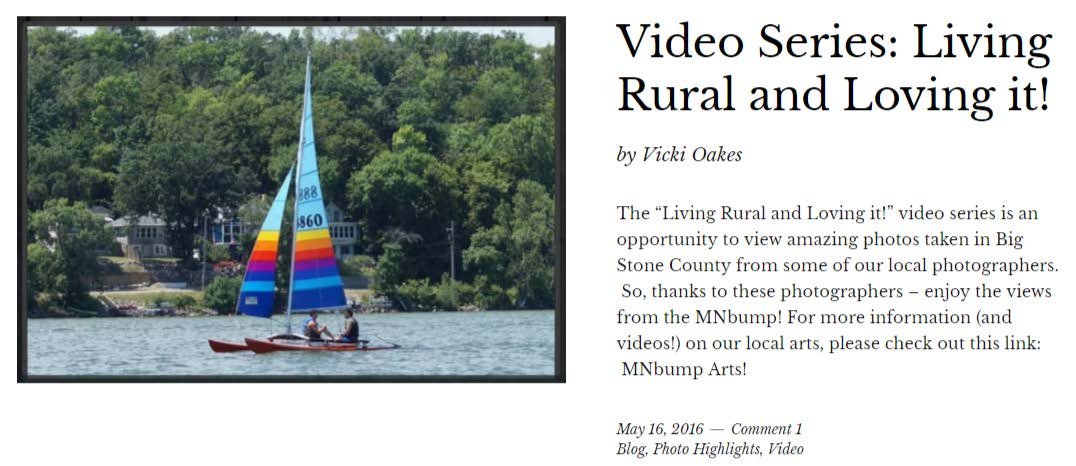 Ortonville video series: living rural and loving it!