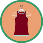 sleeveless shirt on a hanger