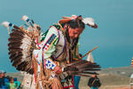 Tribal leader in a pow wow
