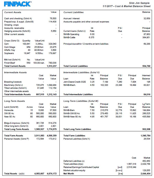 Balance sheet | UMN Extension
