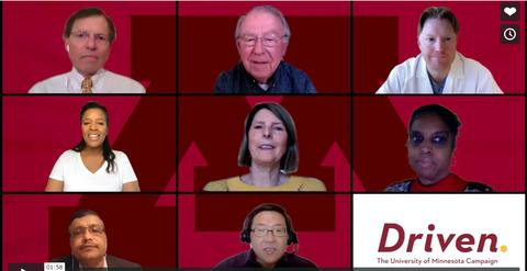 Video thumbnail image of 8 donors in squares with block M behind them