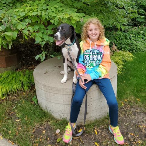 Emily and Benner 4-H dog
