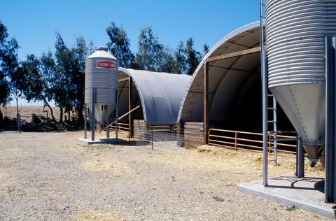 feed bins by hoop barns