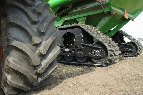 tractor wheel and tractor with tracks.