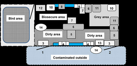 schematic of lay out of inside of trailer with each part numbered