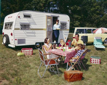 Family RV camping