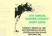 Carver County dairy Expo poster
