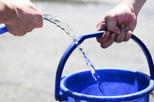 Refilling water pail