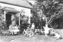 Historical 4-H club outdoors