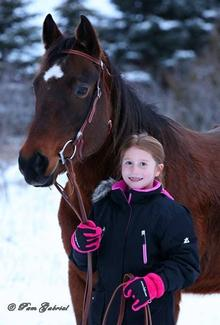 Emily with horse Bella credit Pam Gabriel