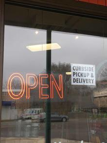Business open for curbside pickup and delivery