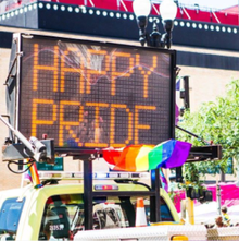 Happy Pride neon sign