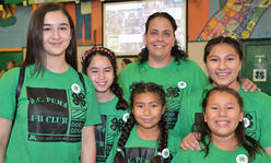 group of 4-H girls with leader