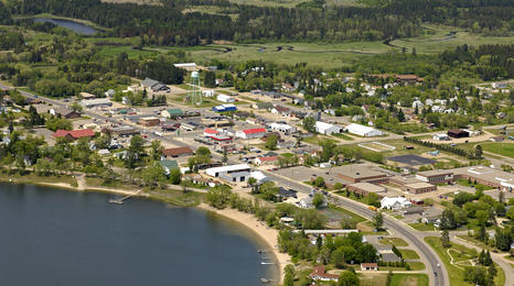 An aerial view of a Minnesota community