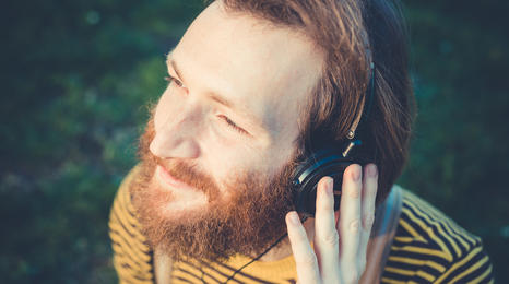 a man wearing headphones