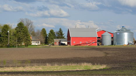 red barn landscape