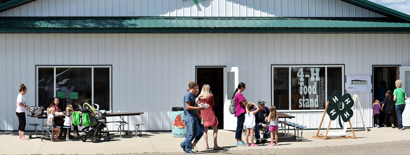 4-H building at Meeker County Fair