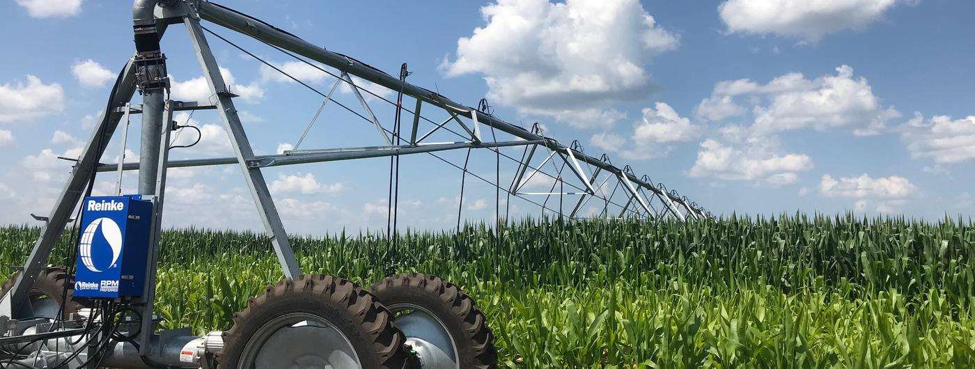 irrigating corn