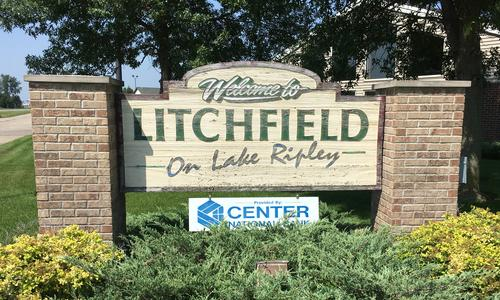 Litchfield, MN welcome sign