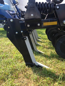In-line ripper plow which is a plow with one row of tines.