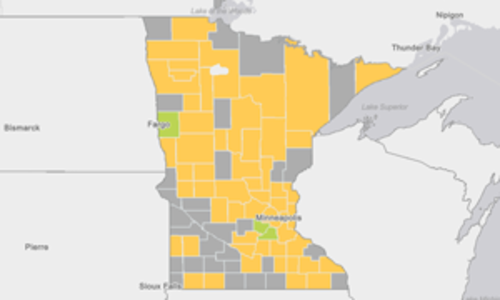 MN population by county map