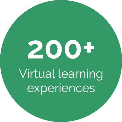200 plus virtual learning experiences