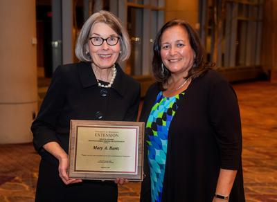 Mary Bartz honored by Extension