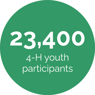 23,400 4-H youth participants