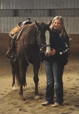 4-H'er with her horse
