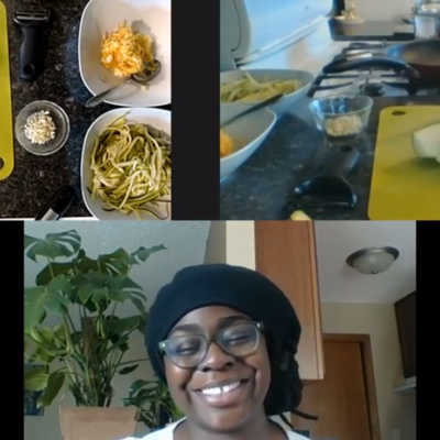 Educator Saajewa and Chef Jordan from Cooking Connected  ​