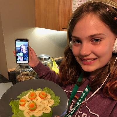 Morris Regional Campers enjoyed cooking with their friends virtually