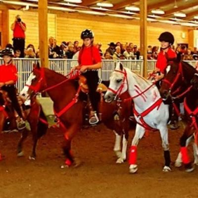 drill team sitting on horses