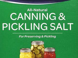Canning and pickling salt.