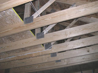 Framing - trusses.