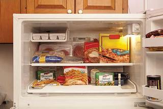 freezer with convenience foods