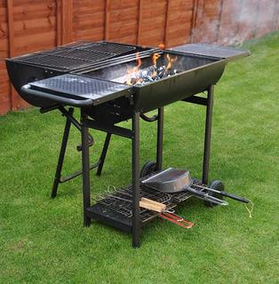 Outdoor barbecue grill.