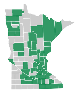 map of counties in minnesota who did outdoor virtual learning